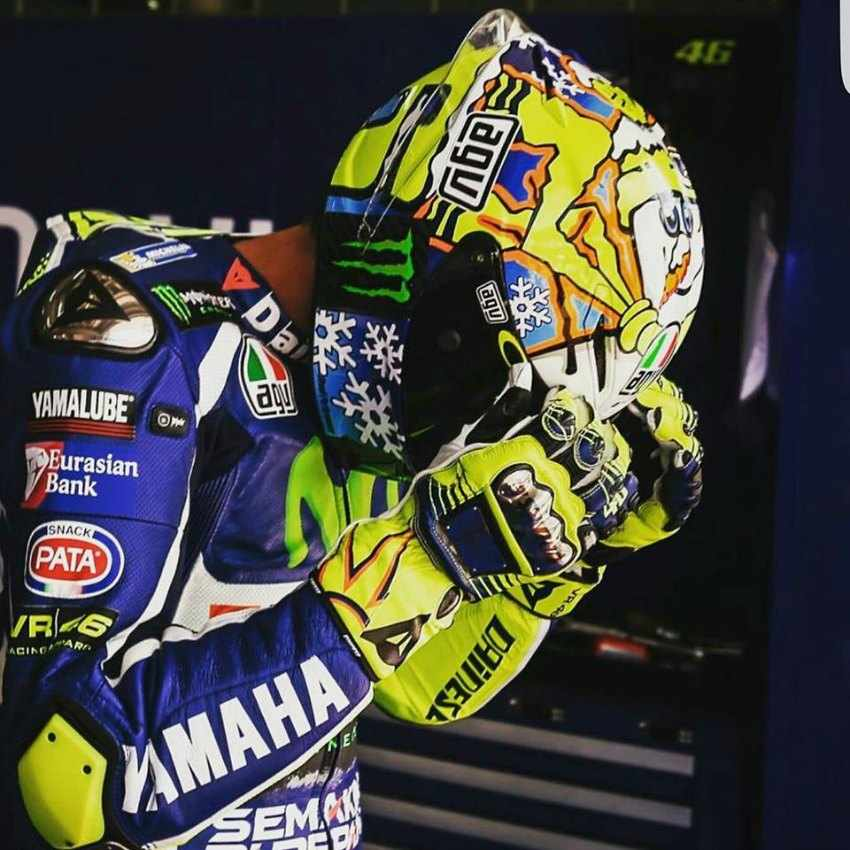 Casco de Valentino Rossi 2016 Winter Test 2