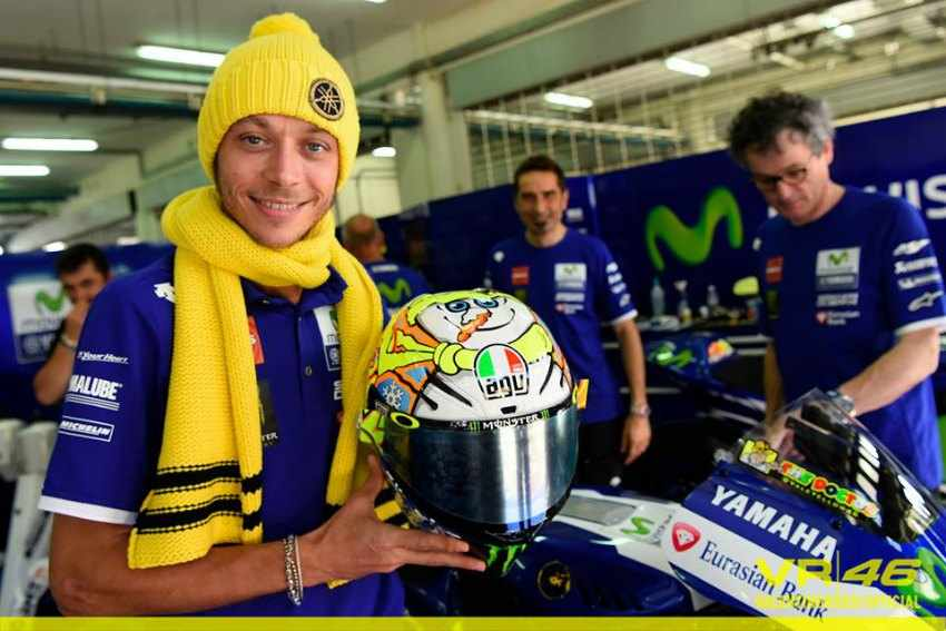 Casco de Valentino Rossi 2016 Winter Test MotoGP