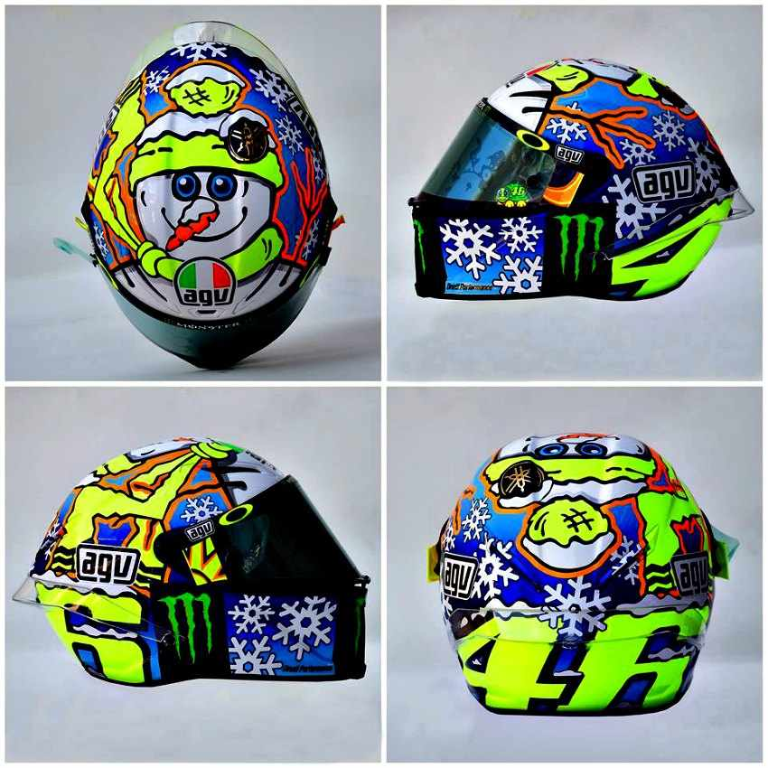 Casco de Valentino Rossi 2016 Winter Test