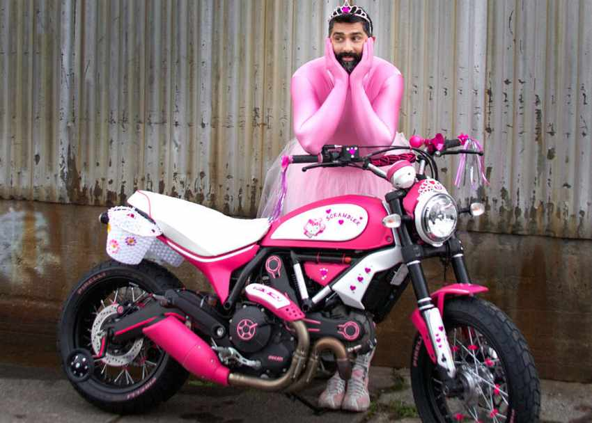 Ducati Scrambler Hello Kitty