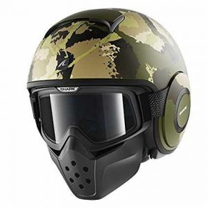casco de moto SHARK Raw Kurtz verde