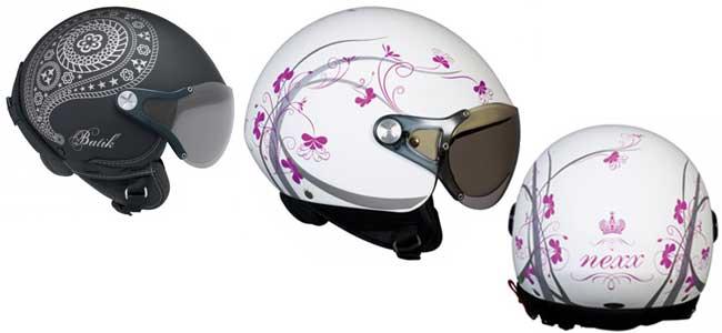 Casco de moto para mujer Queen y Batik de Nexx