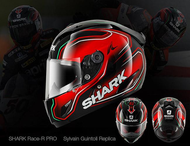 Casco de moto replica Guintoli, Shark Race-R PRO