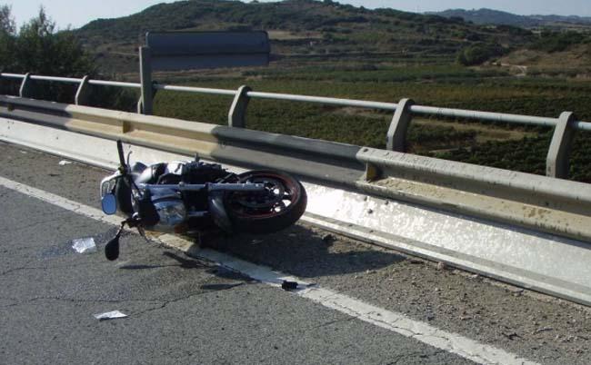 Como actuar en caso de accidente de moto