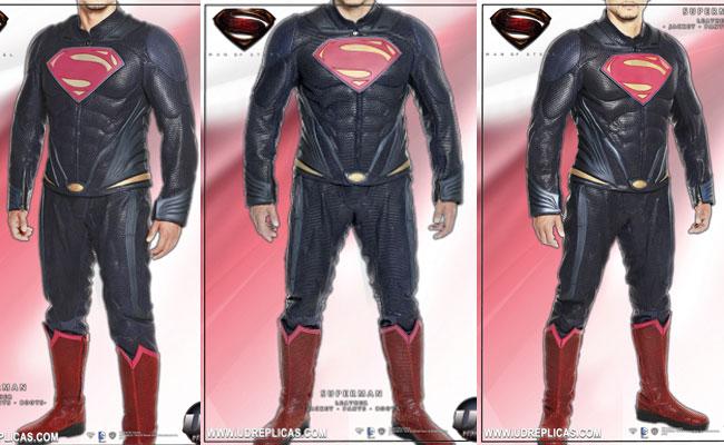 Mono de cuero para moto de Superman