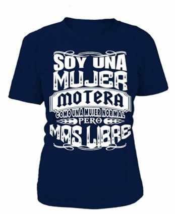 Camiseta motera mujer