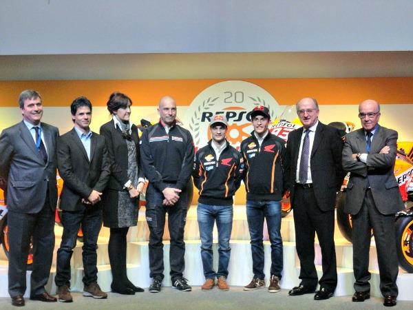 Invitados de la gala 20 años del Repsol Honda
