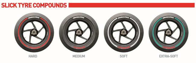 MotoGP 2014 - Nuevo esquema de color para los neumaticos Bridgestone