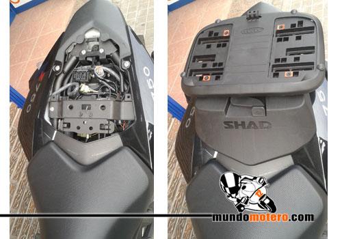 Prueba baul SHAD SH39 con parrilla Sport Rack