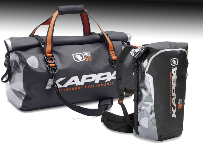 Nuevas bolsas impermeables para moto de Kappa