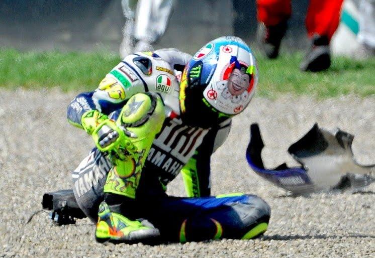 La gran lesión de Valentino Rossi en 2.010