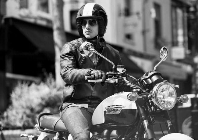 Ropa Triumph para moto estilo retro