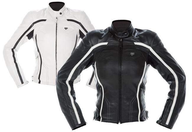 chaqueta de moto para mujer de cuero