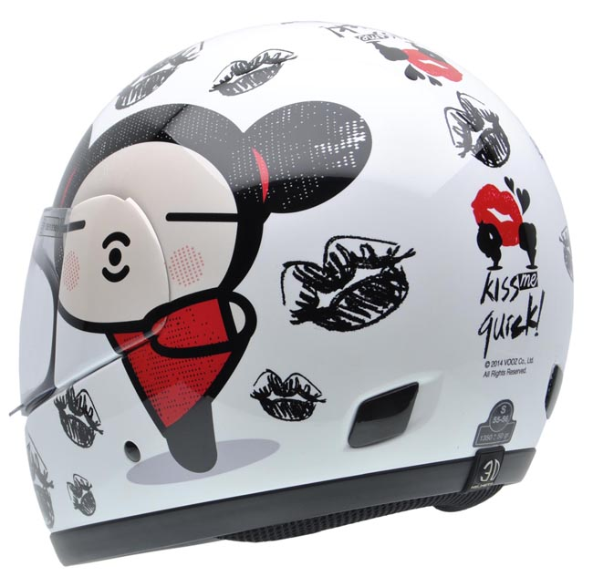 Cascos de moto NZI con dibujos animados de Pucca