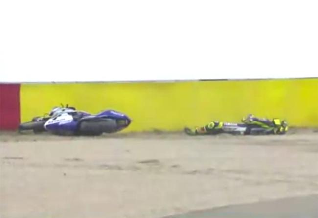 MotoGP Aragon Valentino Rossi caida