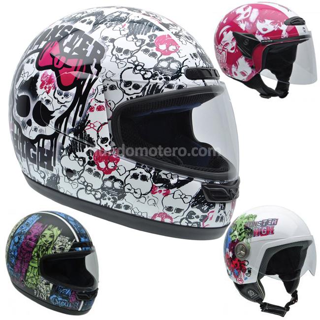 casco de moto monster high