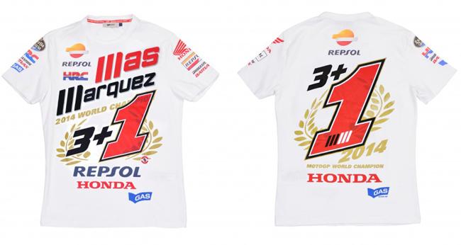 Camiseta Marc Marquez Campeon del Mundo MotoGP 2014