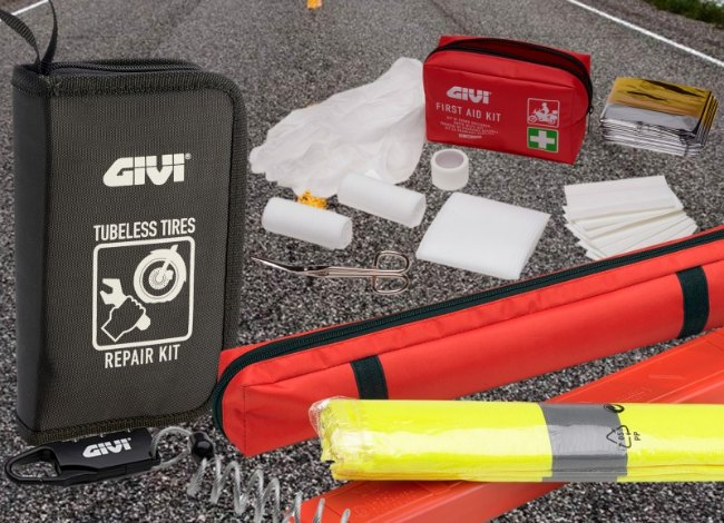 Kit motero para emergencias en carretera