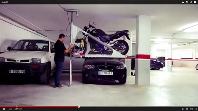 motolift elevador de motos garaje