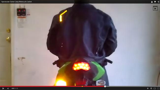 Chaqueta de moto con luces LED