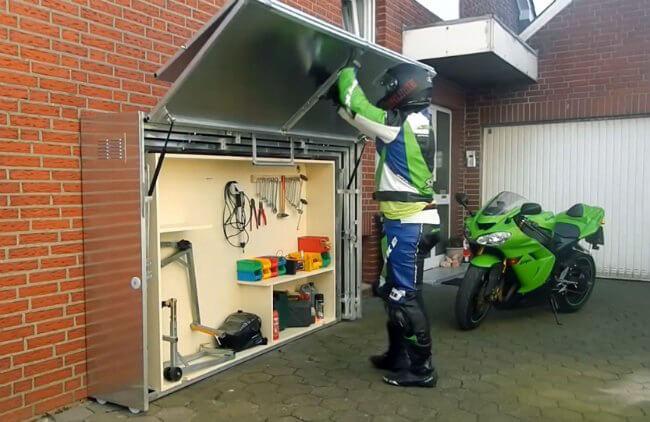 Garaje para motos plegable y personal