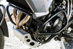 Prueba Triumph Tiger 800 XCx cubre carter