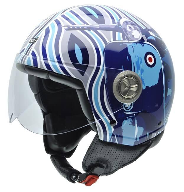casco moto jet Zeta Graphics MOD BLUE