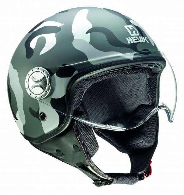 casco de moto Jet Mimetic de Hevik
