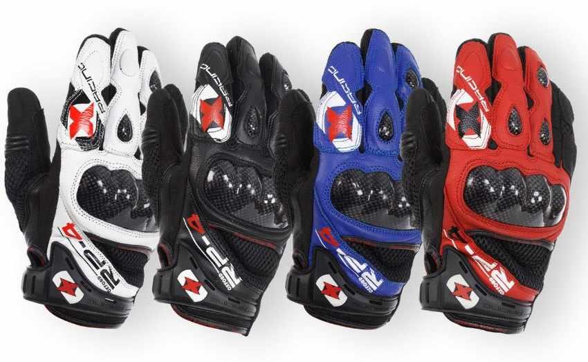 guantes cortos para moto