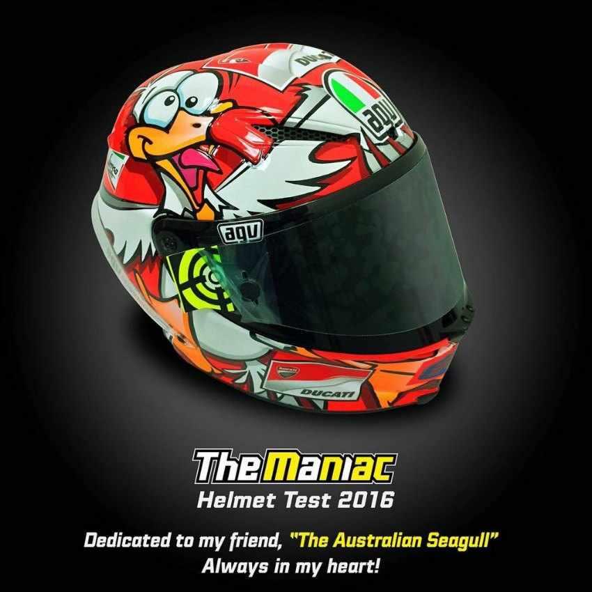 Casco Andrea Iannone Test MotoGP Sepang 2016