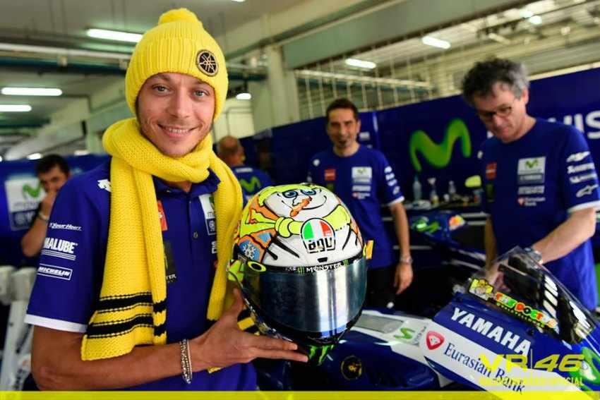 Casco de Valentino Rossi 2016 Winter Test MotoGP