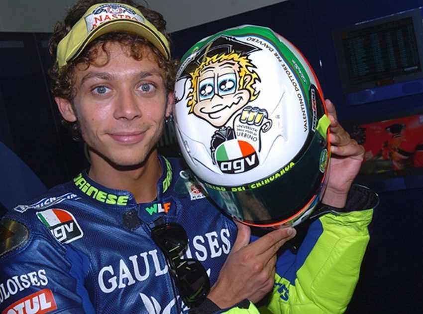 Casco de Valentino Rossi Mugello 2005