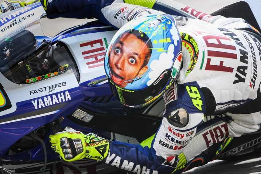 Casco de Valentino Rossi Mugello 2008