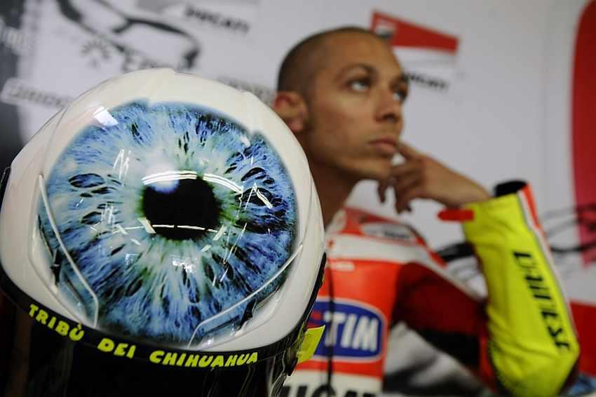 Casco de Valentino Rossi Mugello 2011