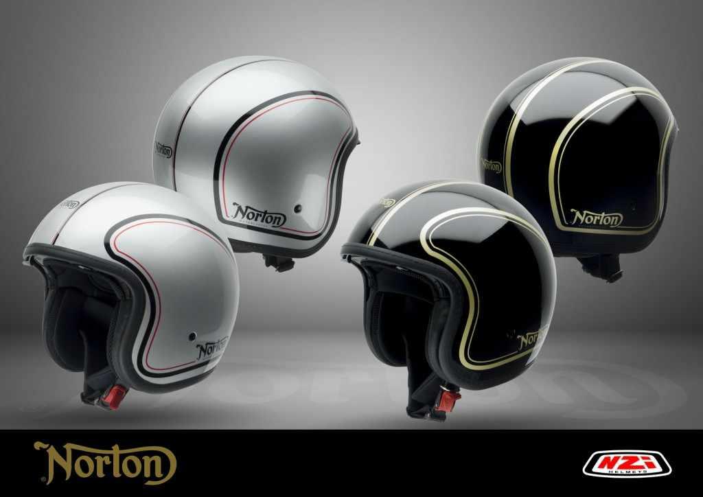 Cascos de moto retro NZI para Norton Motorcycles