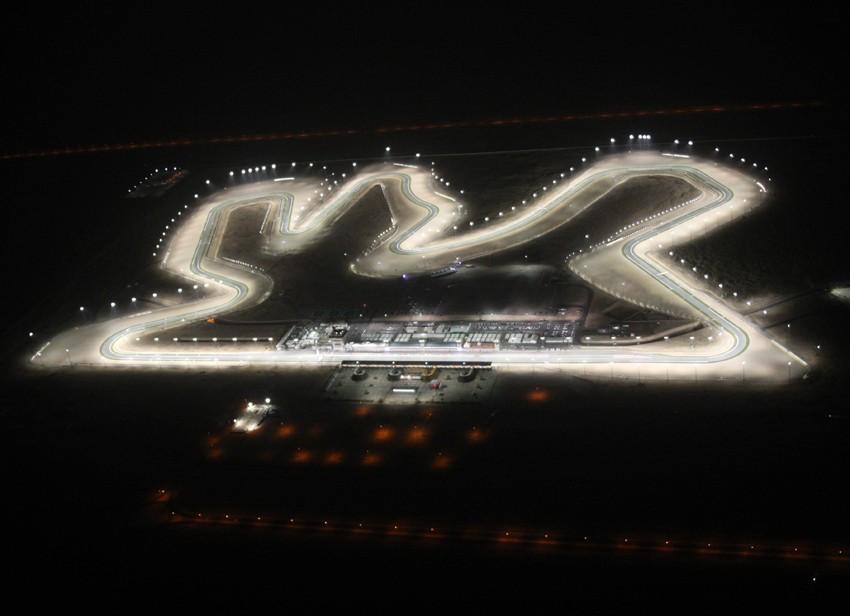 Vista aérea del trazado de Losail antes del inicio del GP de Qatar.