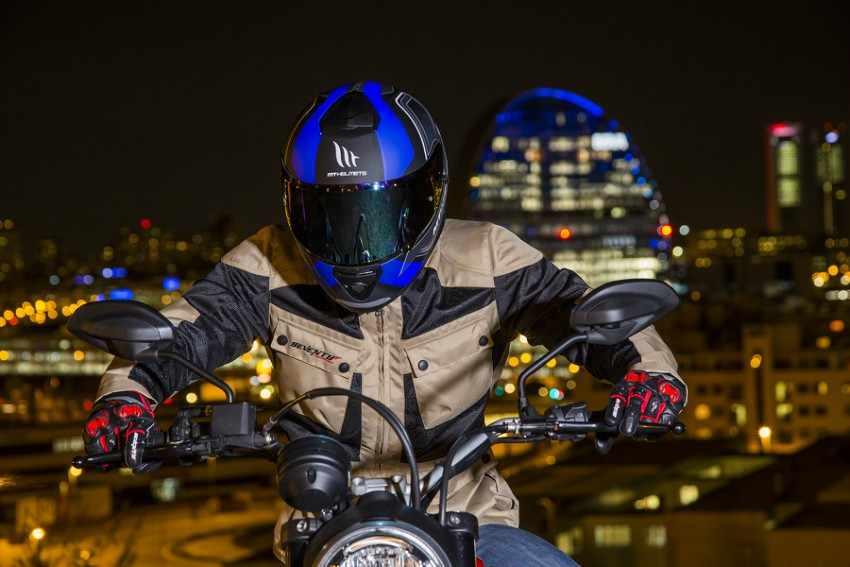 Chaqueta 3-4 de moto de verano hombre