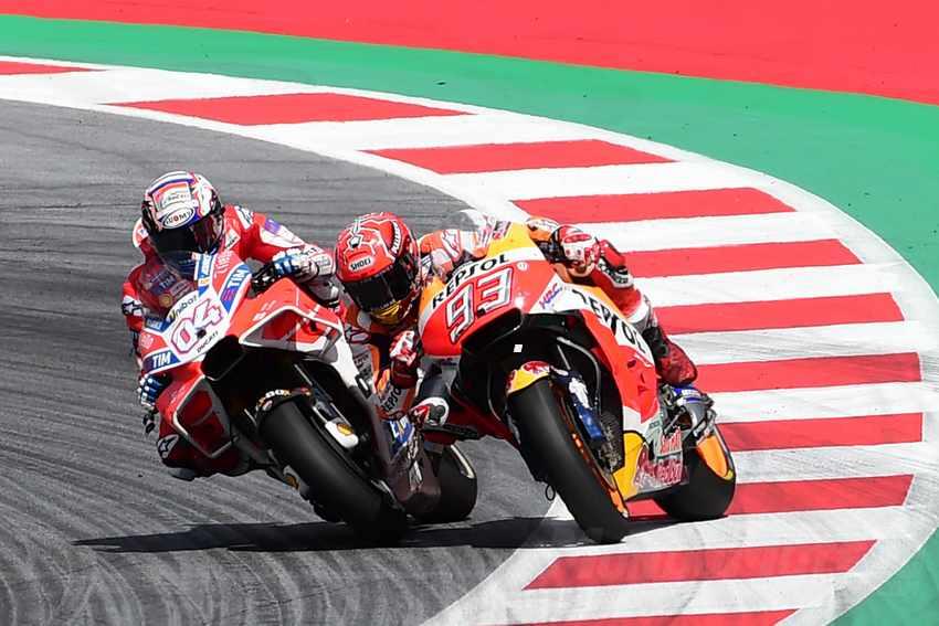 MotoGP - Dovizioso y Márquez en Austria.