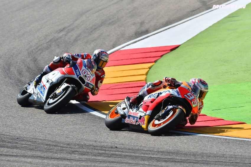 MotoGP Aragon 2017 Marquez vs Dovizioso