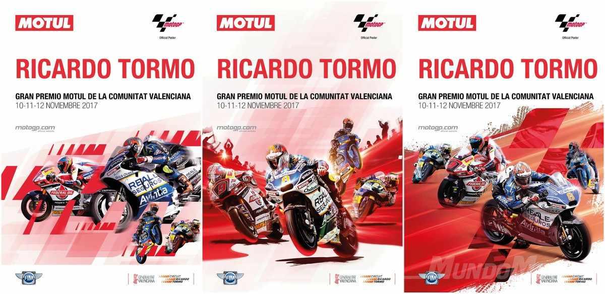 cartel del GP de MotoGP de Valencia 2017