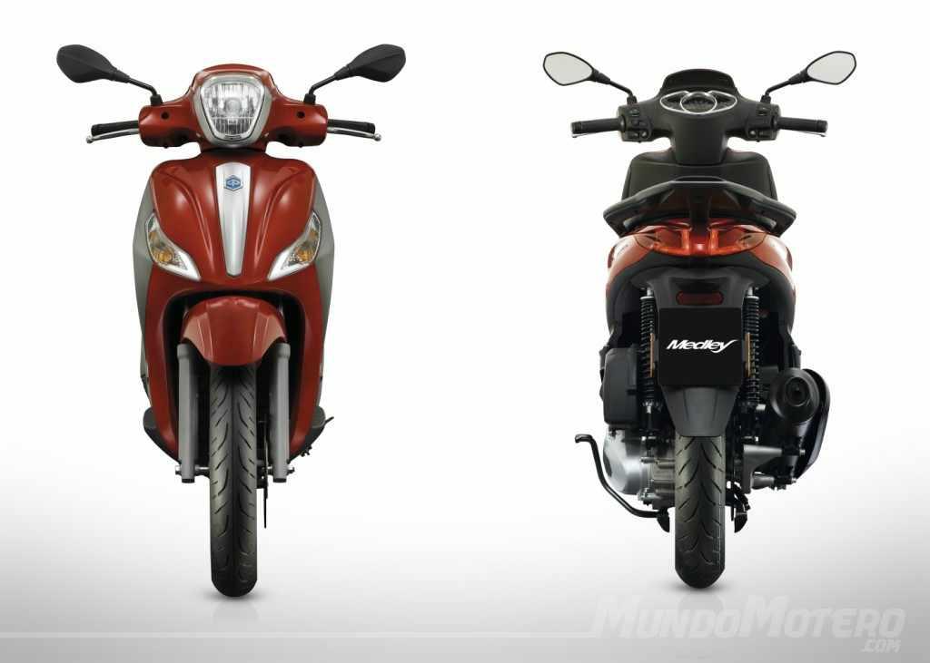Novedades scooters rueda alta Piaggio Medley 125 2017