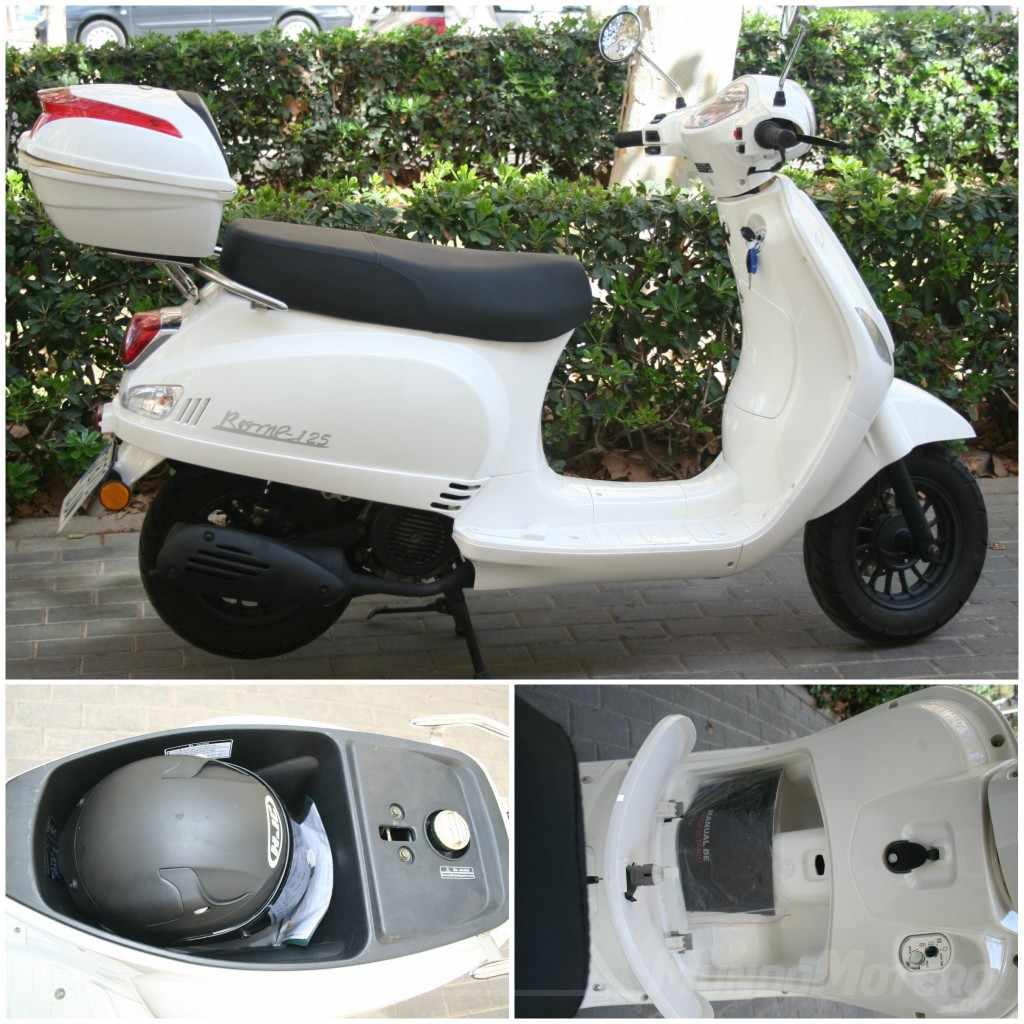Scooters 125 baratos Prueba Riya Rome 125