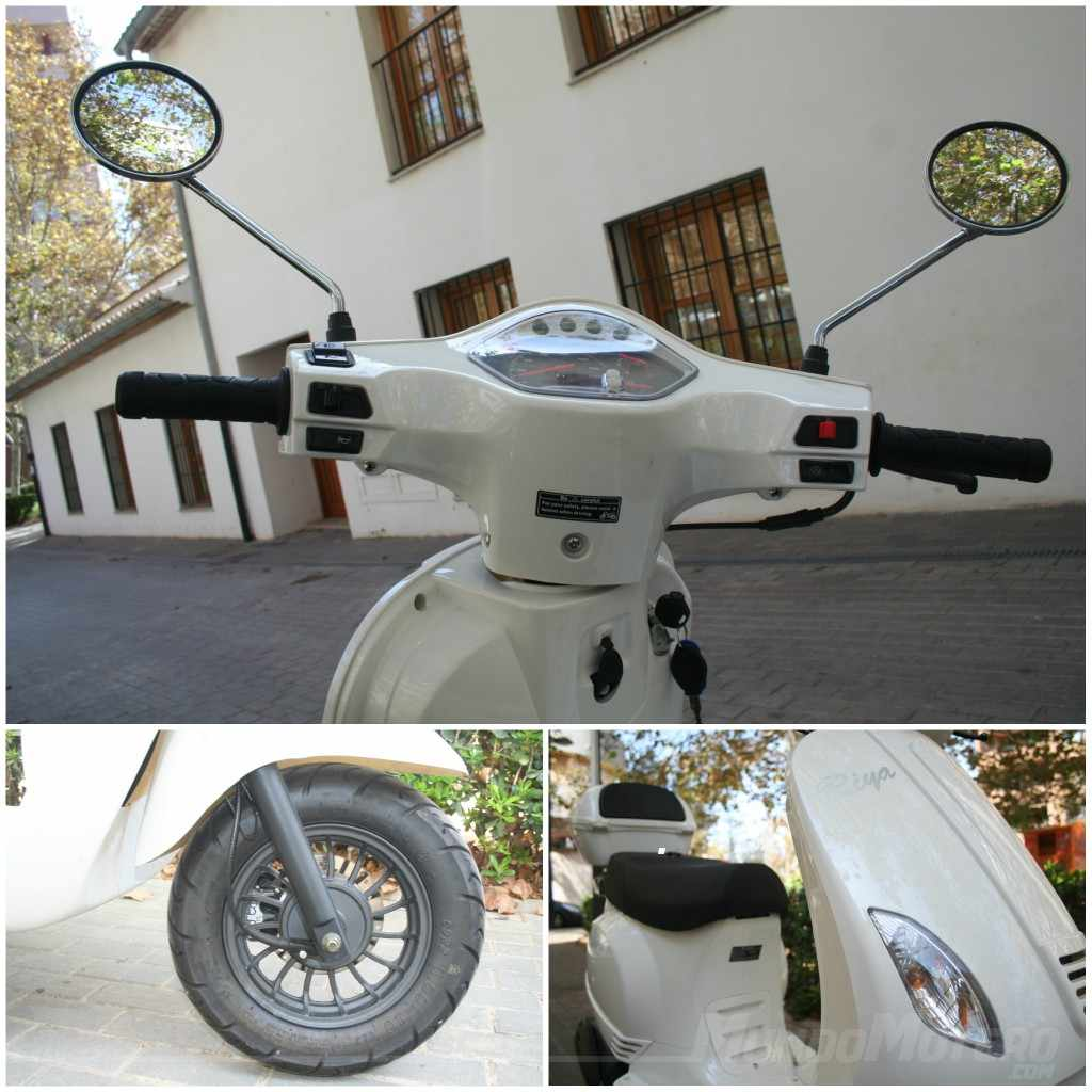 Scooters 125 económicos Prueba Riya Rome 125
