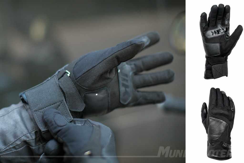 Guantes de invierno para moto Hevik Rock Dark R