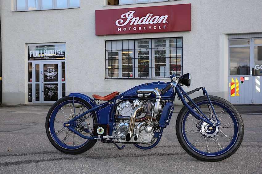 Indian Super Scout, una moto custom de sobrealimentada de 200 CV