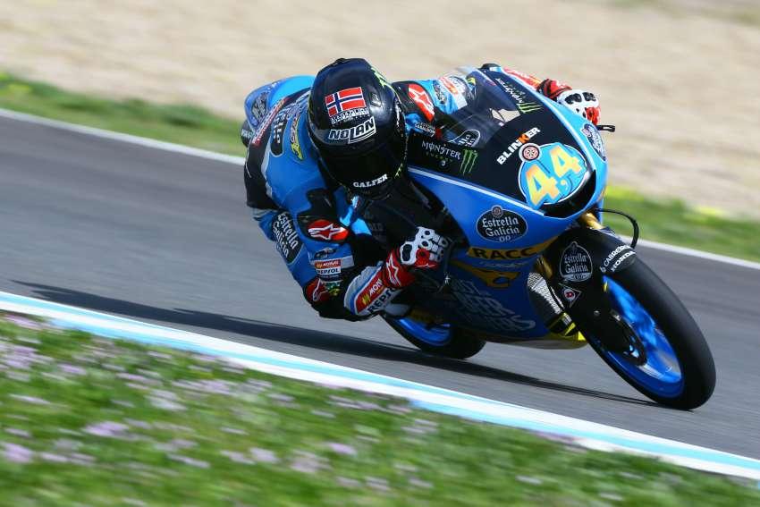 Arón Canet en los pasados test IRTA en Jerez