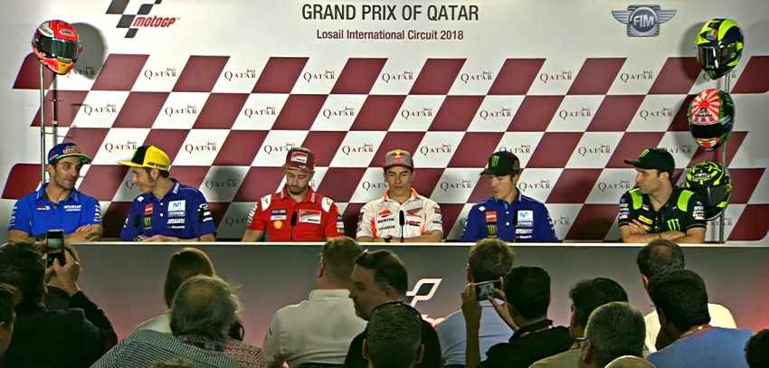 Rueda de prensa Qatar MotoGP 2018