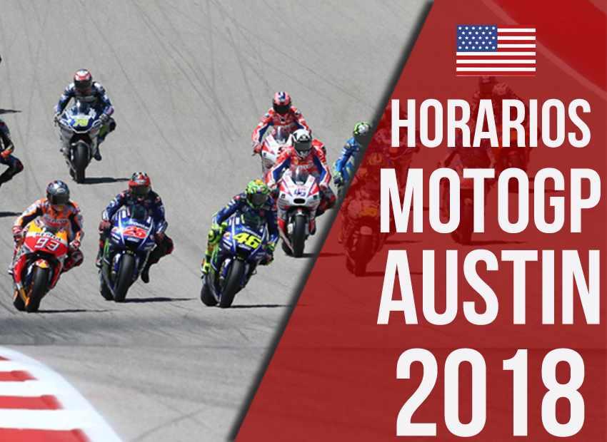 Horarios MotoGP Austin 2018