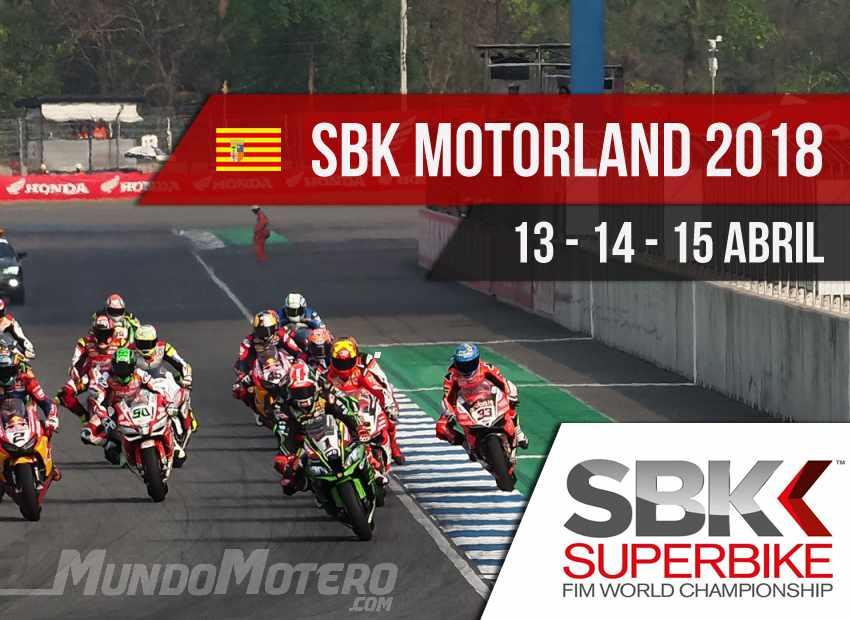Horarios SBK Motorland Aragon 2018