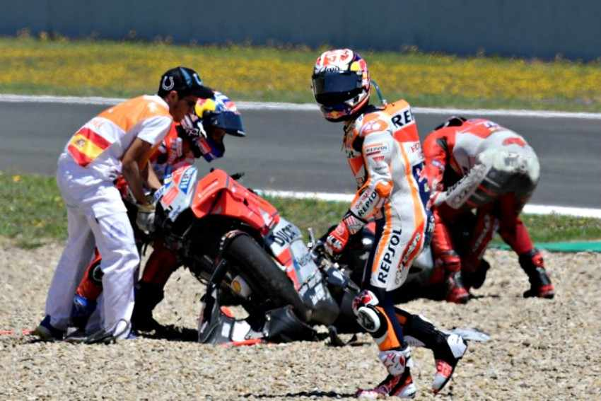 MotoGP Jerez 2018 - Andrea Dovizioso, Jorge Lorenzo y Dani Pedrosa
